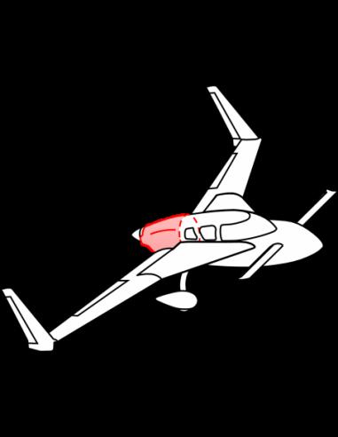 AeroCanard SB Upper Cowling